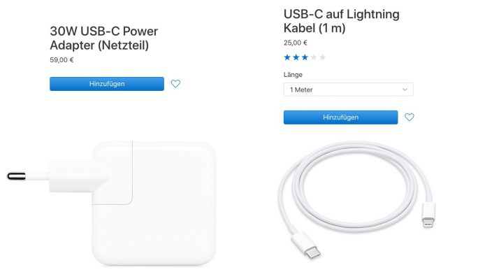 iPhone XS: Schnelllade-Kit für 84 Euro (Screenshot: ZDNet.de)