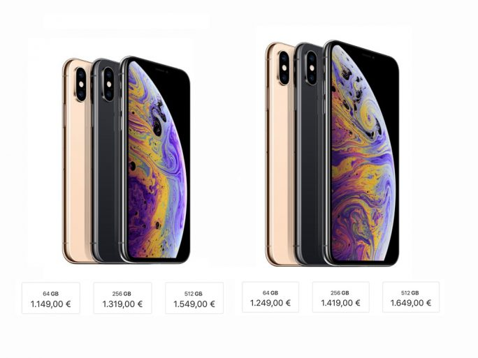 iPhone XS und iPhone XS Max: Preise 2018 (Screenshot: ZDNet.de)