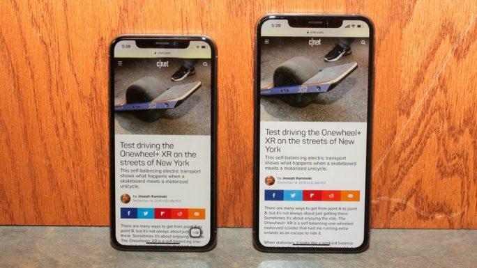 iPhone XS und iPhone XS Max (Bild: CNET)