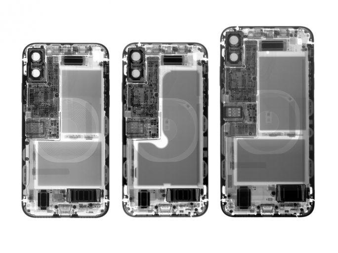 iPhone X, XS und XS Max (Bild: iFixit)