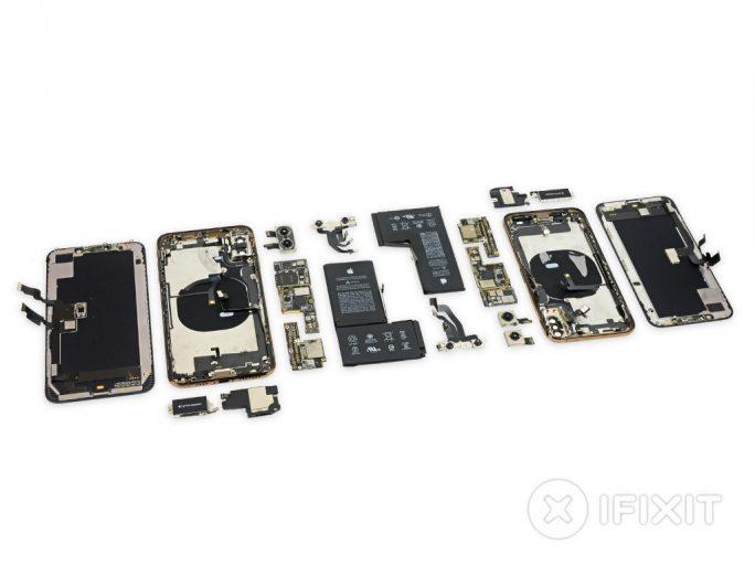 iPhone XS und XS Max zerlegt (Bild: iFixit)