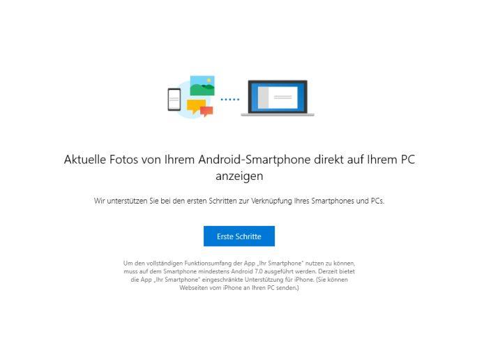 Windows 10 Version 1809 arbeitet enger mit Smartphones zusammen (Screenshot: Thomas Joos).