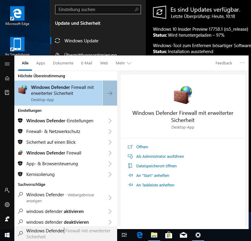 897801b433c573 Die neue Vorschau in Windows 10 Version 1809 (Screenshot  Thomas Joos).