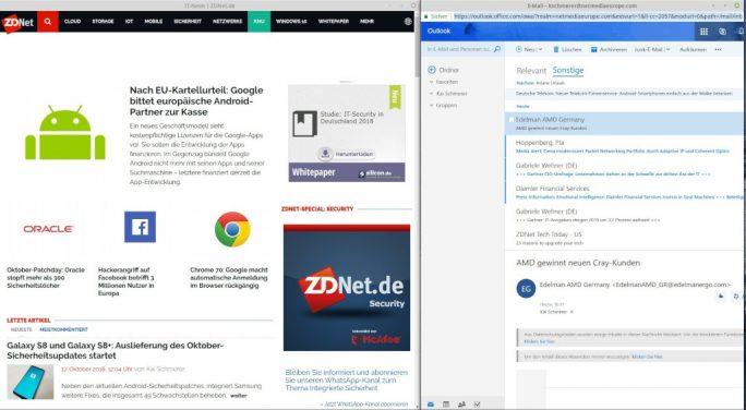 Progressive Web Apps (PWA) funktionieren auch unter Linux (Screenshot: ZDNet.de)