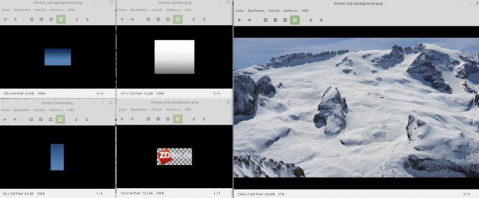 Grafiken für Theme Creator (Screenshot: ZDNet.de)