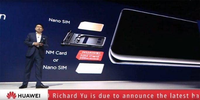 Huawei Mate 20 Pro: Nano Memory Card (Bild: Huawei)