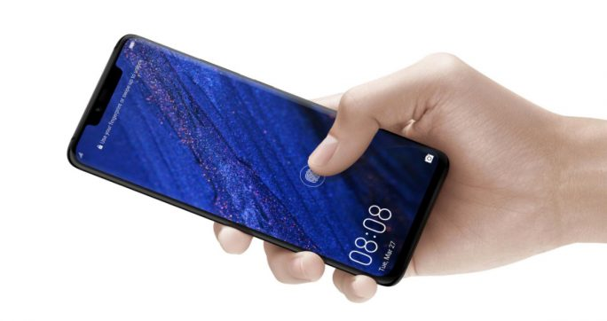 Huawei Mate 20 Pro: Fingerabdrucksensor unter dem Display (Bild: Huawei)