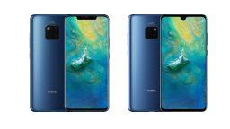 Huawei Mate 20 Pro (links) und Mate 20 (Bild: Huawei)