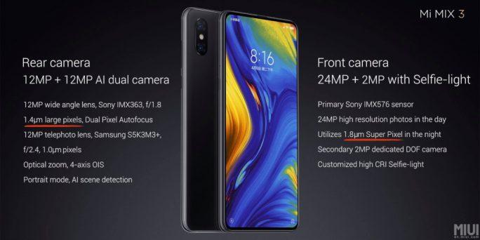 Xiaomi Mi MIX 3: Front- und Hauptkamera (Bild: Xiaomi)