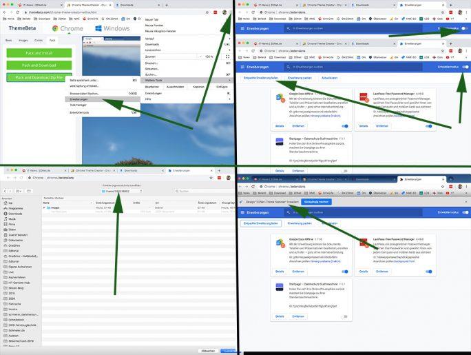 Themebeta: Theme in Chrome laden (Screenshot: ZDNet.de)