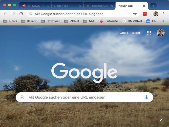 Themebeta: Neues Design für Chrome (Bild: ZDNet.de)