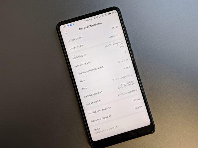 Xiaomi Mi MIX 2S mit Oktober-Patch (Bild: ZDNet.de)