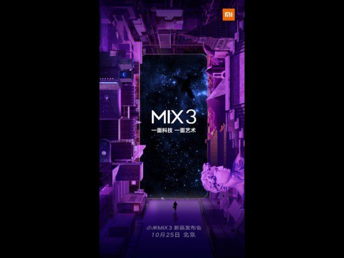 Xiaomi Mi MIX 3: Vorstellung am 25. Oktober (Bild: Xiaomi)