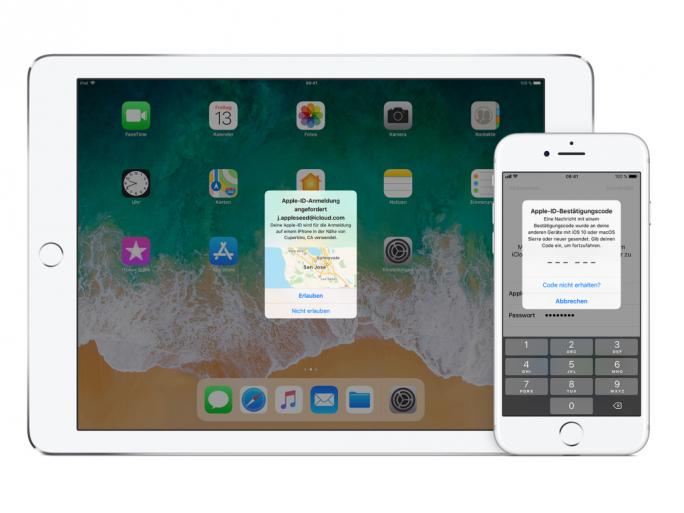 Zwei-Faktor-Authentifizierung (Bild: Apple)