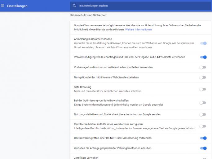 Chrome 70 (Screenshot: ZDNet.de)