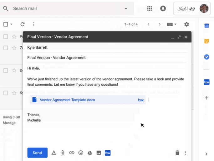Compose Actions in Gmail (Bild: Google)