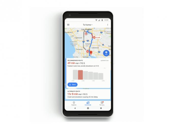 Commute Tab (Bild: Google)