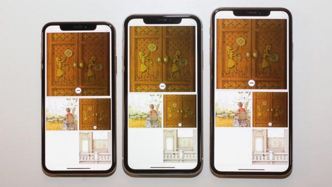 Größenvergleich: iPhone XS, iPhone XR und iPhone XS Max (Bild: Scott Stein, CNET)