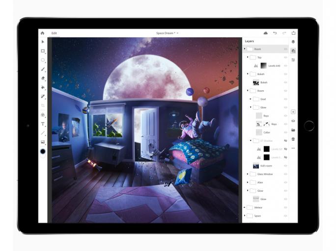 Photoshop CC auf dem iPad (Bild: Apple)