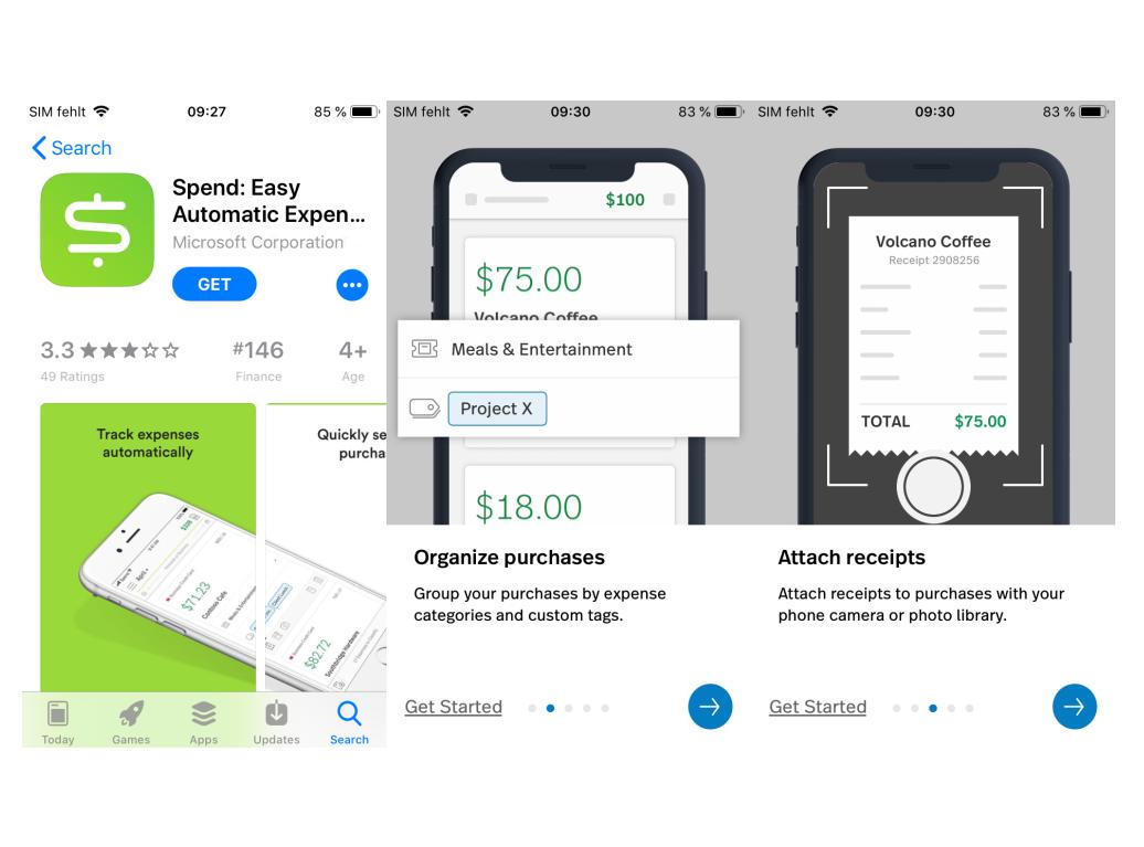 Spend: Microsoft veröffentlicht mobile Ausgabenverwaltung für iOS