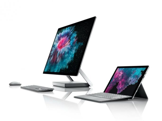 Surface Pro 6 und Surface Studio 2 (Bild: Microsoft)