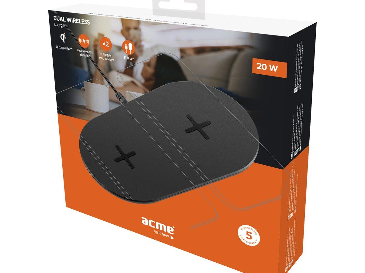 ACME CH305: Qi-Ladepad für doppeltes Schnellladen