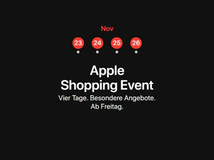 Apple macht bei Black Friday mit (Screenshot: ZDNet.de)
