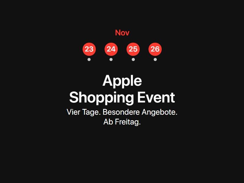Überraschung: Apple macht bei Black Friday mit