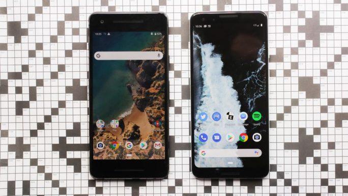 Pixel 3 im Vergleich zu Pixel 2 (Bild: Sarah Tew, CNET)