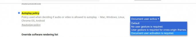 Chrome-Autplay-Policy: Document user activation is required (Screenshot: ZDNet.de)