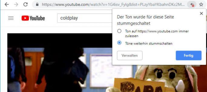 Chrome stummschalten: Ausnahme für Webseite hinzufügen (Screenshot: ZDNet.de)