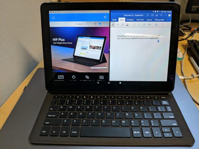 Das Chuwi Hi9 Plus ist optional mit Tastatur und Eingabestift erhältlich (Bild: ZDNet.de)
