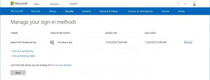 Zur Anmeldung bei Microsofts Online-Diensten Windows Hello nutzen (Screenshot: ZDNet.de)
