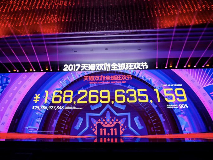Singles' Day in China: Alibaba vermeldet 2017 Umsatz-Rekord in Höhe von 25,3 Milliarden Dollar (Bild: Alibaba)