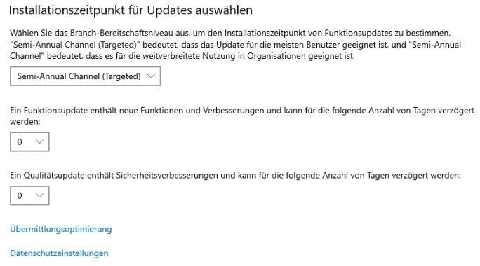 Installationszeitpunkt für Updates steuern (Screenshot: Thomas Joos).