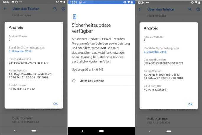 Android-December-2018-Security-Update (Screenshot: ZDNet.de)