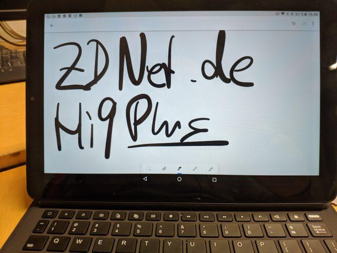 Chuwi Hi9 Plus: Stifteingabe (Bild: ZDNet.de)