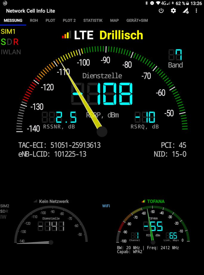 Chuwi Hi9 Plus: WLAN und LTE (Bild: ZDNet.de)