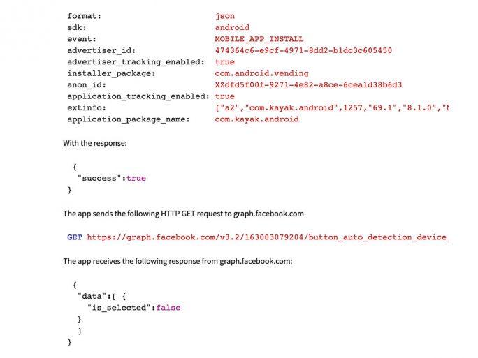 Beim Start von vielen Apps übertragen diese Daten an Facebook (Screenshot: ZDNet.de)