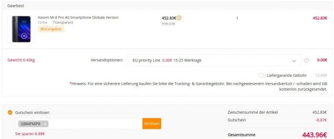 Mi 8 Pro für 444 Euro (Bild: ZDNet.de)