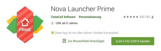 Schnäppchen: Nova Launcher Prime (Screenshot: ZDNet.de)