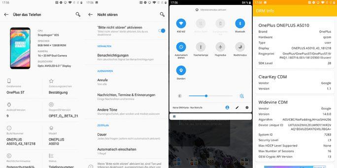 OnePlus 5T mit Android 9 Pie (Bild: ZDNet.de)