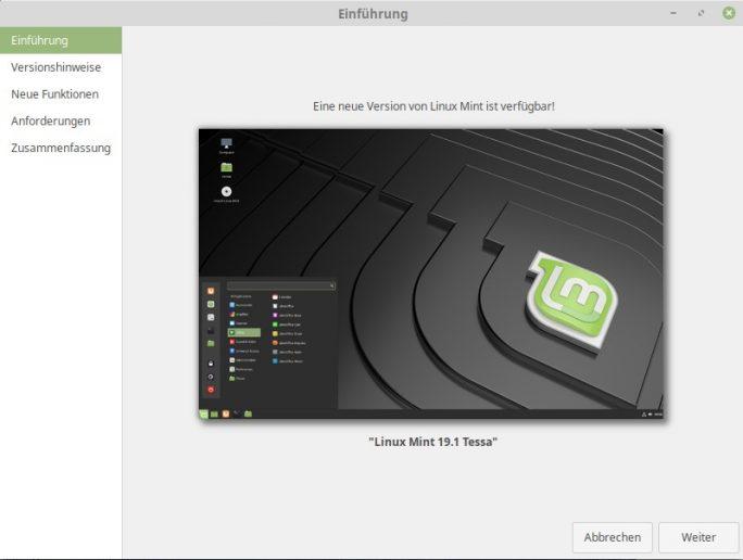 Upgrade-Mint-Tessa (Bild: ZDNet.de)