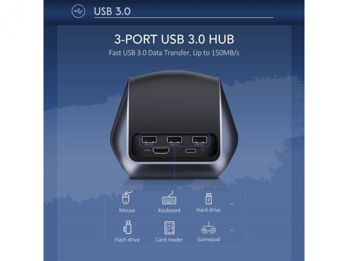 Ugreen USB-C-Dockingstation: Anschlüsse (Bild: Ugreen)