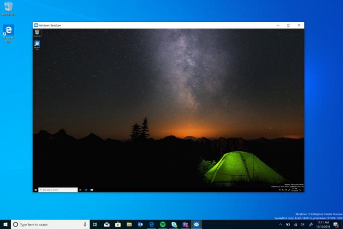 Die Windows-Sandbox isoliert potentiell bedrohliche Anwendungen (Bild: Microsoft).
