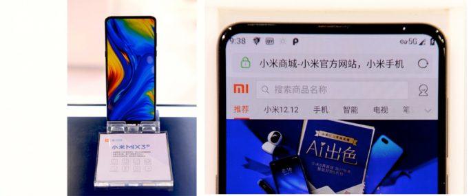 Xiaomi Mi MIX 3 mit Snapdragon 855 und Modem X50 (Bild: Sina Weibo)