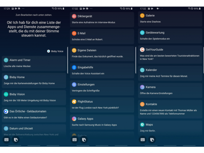 Bixby Voice (Screenshots: ZDNet.de)
