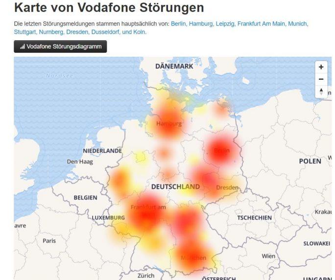 Vodafone-Störung (Screenshot: ZDNet.de)