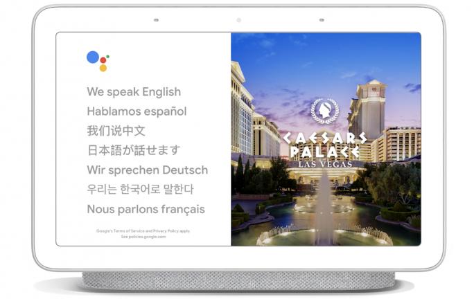 Der Sprachassistent bietet Übersetzungsdienste an (Bild: Google).