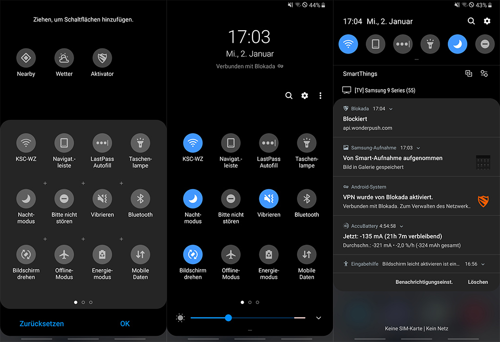 Android 9 Pie Fur Galaxy S9 Note 9 Nachtmodus Konfigurieren Zdnet De